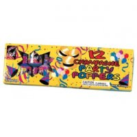 CHAMPAGNE PARTY POPPERS - BOX OF 12