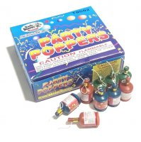 CHAMPAGNE PARTY POPPERS - BOX OF 72