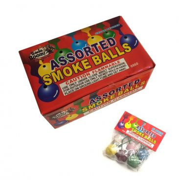 CLAY SMOKE BALLS ASSORTED COLOR - PACK OF 6